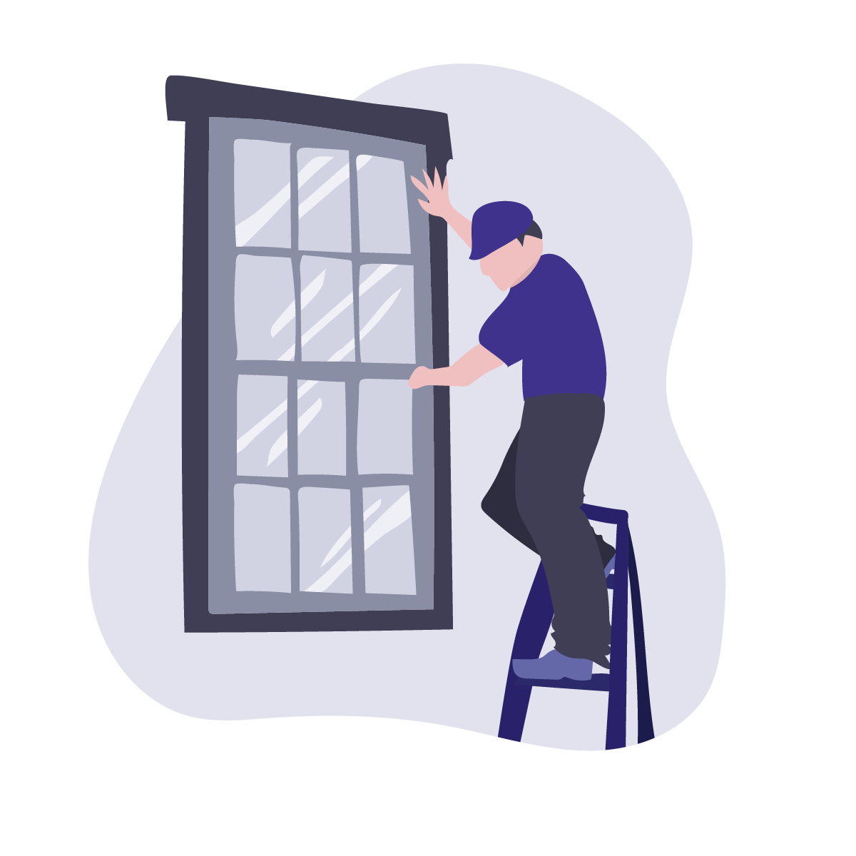aaa window glass installation illustration