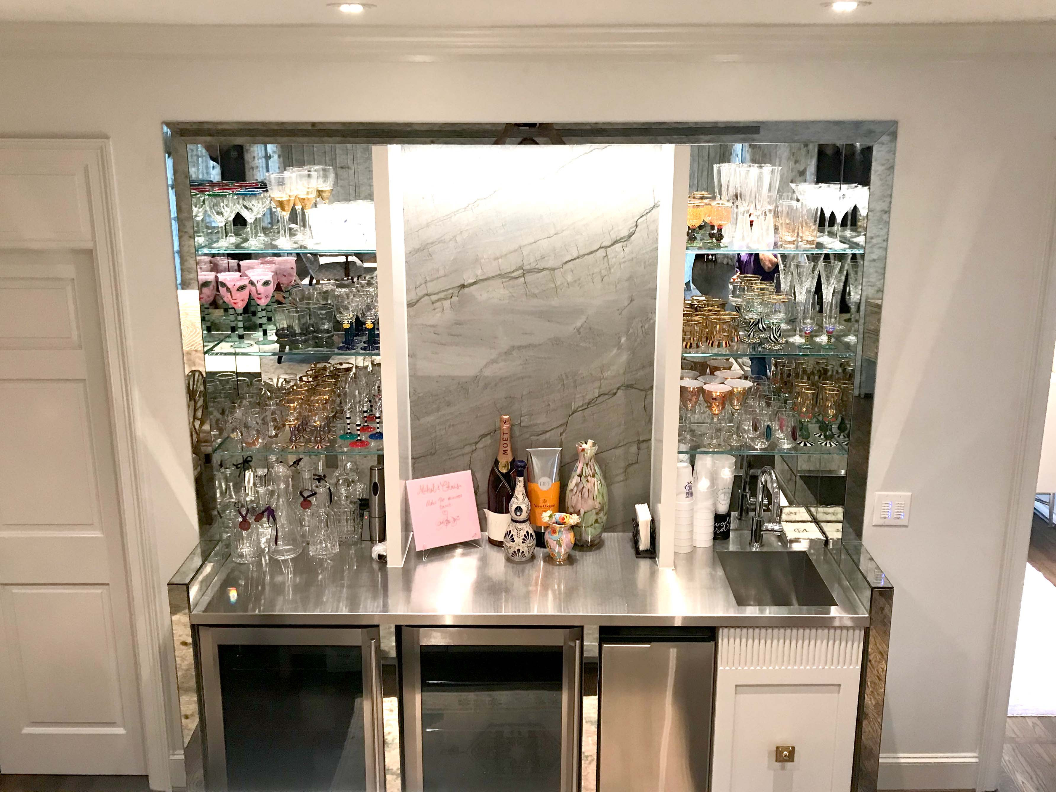 Glass Bar Area