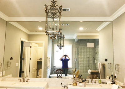 Frameless Glass Bathroom Mirror