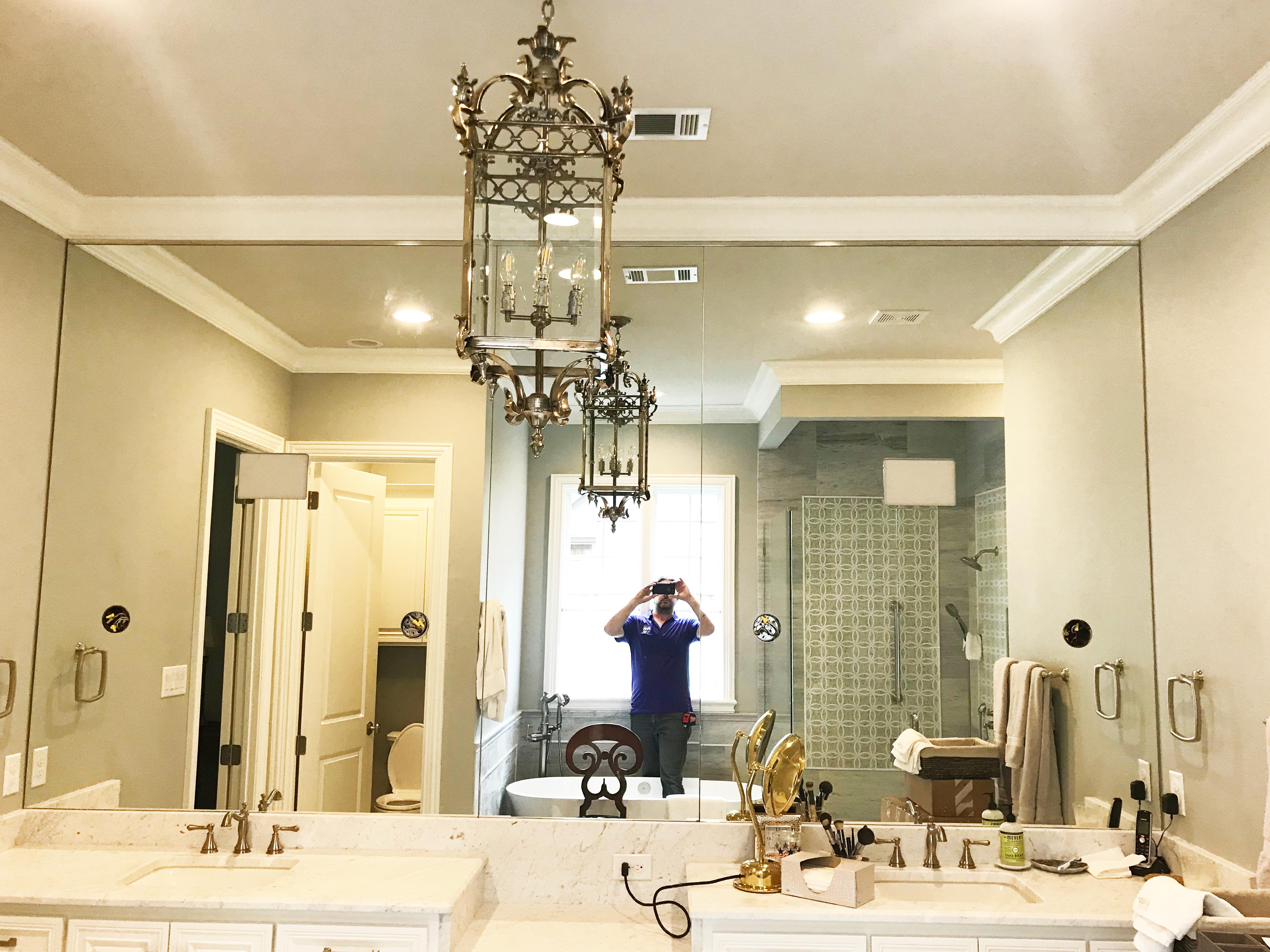 Frameless Glass Bathroom Mirror